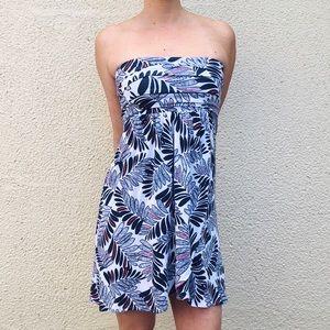 TART Strapless Tropical Floral Dress